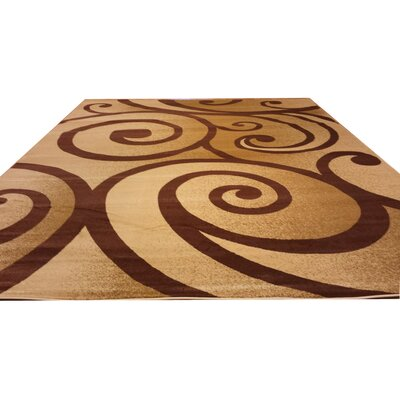 Beige / Brown Area Rug Rug Size: Runner 27 x 91