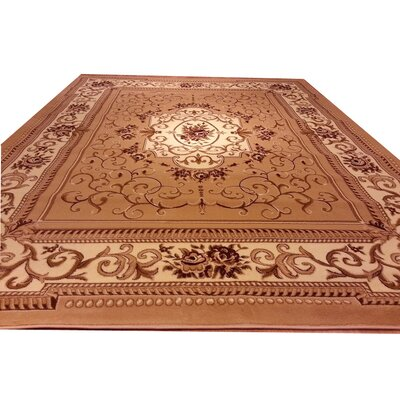 Beige Area Rug Rug Size: Rectangle 711 x 910