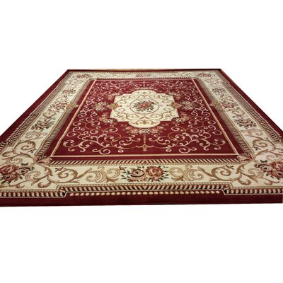 Burgundy Area Rug Rug Size: Rectangle 711 x 910