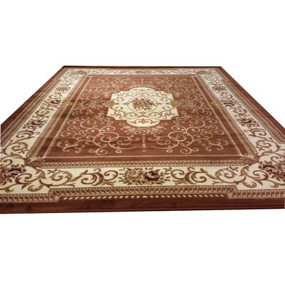 Brown Area Rug Rug Size: Rectangle 711 x 910