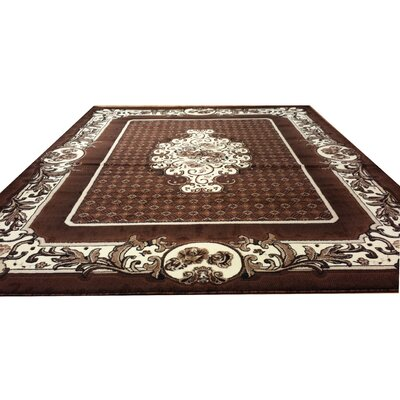 Hand-Carved Brown Area Rug Rug Size: Runner 27 x 910