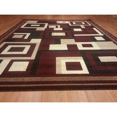 Hand-Carved Red Area Rug Rug Size: Runner 2' x 7'2