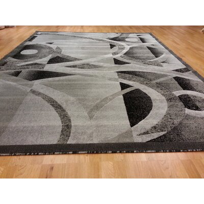 Hand-Carved Gray Area Rug Rug Size: Runner 27 x 910