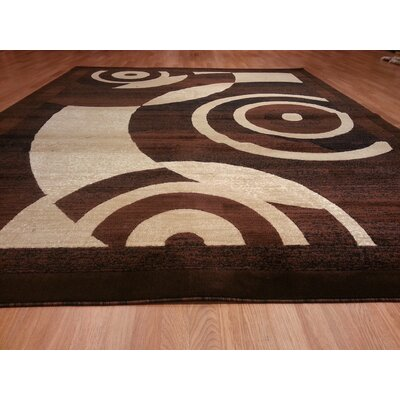 Hand-Carved Brown Area Rug Rug Size: 3 x 5