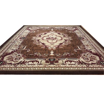 Hand-Carved Brown Area Rug Rug Size: Rectangle 3 x 5