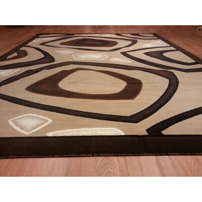 Hand-Carved Brown/Beige Area Rug Rug Size: Runner 27 x 910