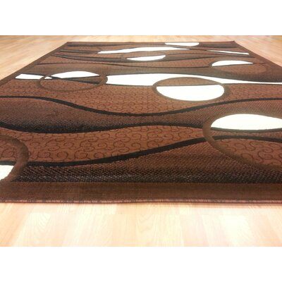 Hand-Carved Brown Area Rug Rug Size: Runner 27 x 91