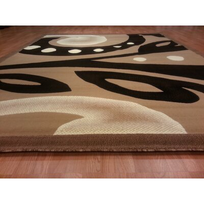 Hand-Carved Brown/Black Area Rug Rug Size: Round 8