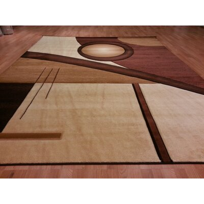 Hand-Carved Brown/Beige Area Rug Rug Size: Runner 27 x 72