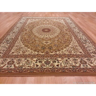 Gold Area Rug Rug Size: Rectangle 53 x 72
