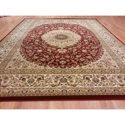 Red Area Rug Rug Size: Rectangle 53 x 72