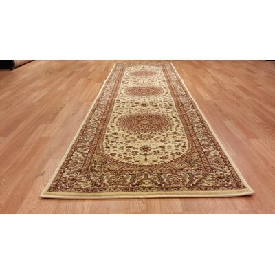 Brown/Beige Area Rug Rug Size: Runner 27 x 72