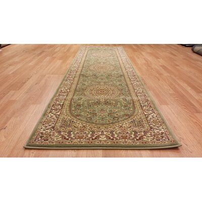 Green Area Rug Rug Size: Runner 27 x 146
