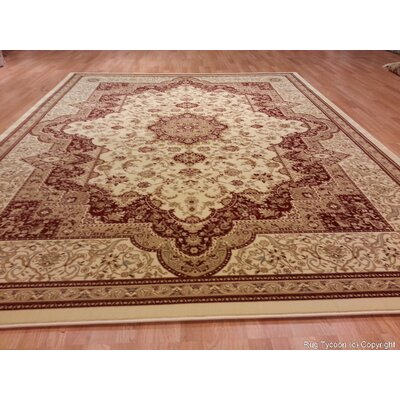 Brown/Beige Area Rug Rug Size: 53 x 72