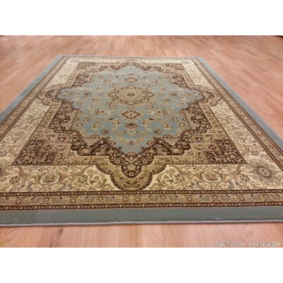 Silver/Beige Area Rug Rug Size: 53 x 72