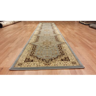 Silver/Beige Area Rug Rug Size: Runner 27 x 146