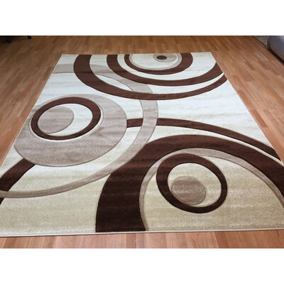 Hand-Carved Area Rug Rug Size: 53 x 72