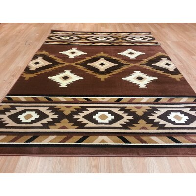 Brown Area Rug Size: 4 x 6