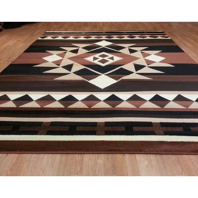 Brown Area Rug Size: 5'3