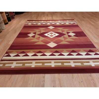 Red Area Rug Size: Rectangle 711x910