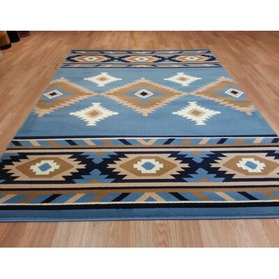 Blue Area Rug Size: Rectangle 4 x 6