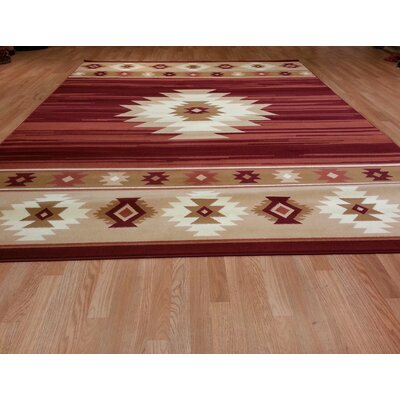 Red Area Rug Size: Rectangle 53x72