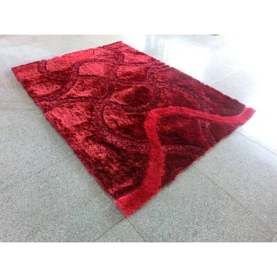 Red Area Rug Rug Size: 7 x 10