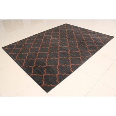 Black/Brown Area Rug Rug Size: 4 x 6