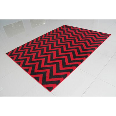 Red/Black Area Rug Rug Size: 7'11
