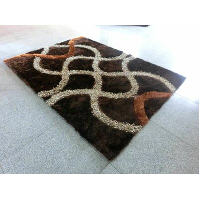 Brown Area Rug Rug Size: 53x72