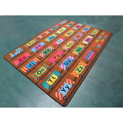 Yellow/Brown Area Rug Rug Size: 53 x 72