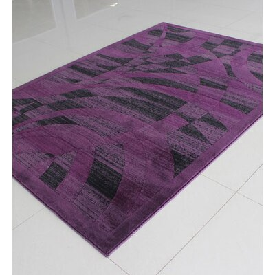 Purple Area Rug Rug Size: Rectangle 4 x 6
