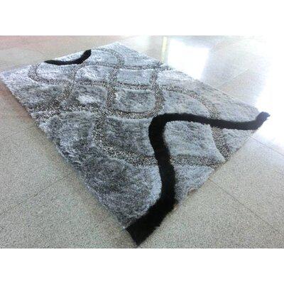 Black Area Rug Rug Size: 711 x 910