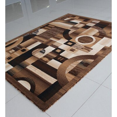 Brown/Black Area Rug Rug Size: 711 x 910