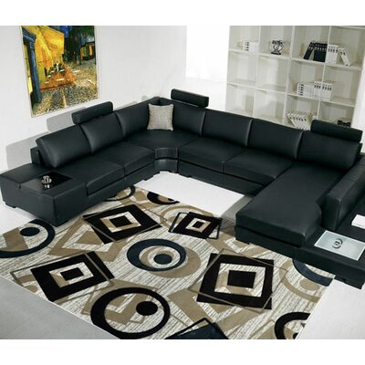 Champaign/Black/White Area Rug Rug Size: Runner 27 x 72
