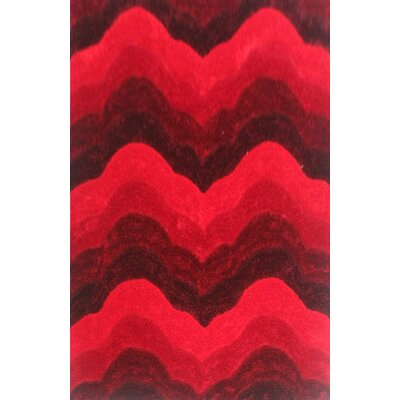 Dinuba Red Area Rug Rug Size: 53 x 72