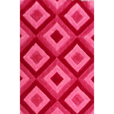 Knauer Pink Area Rug Rug Size: 53 x 72