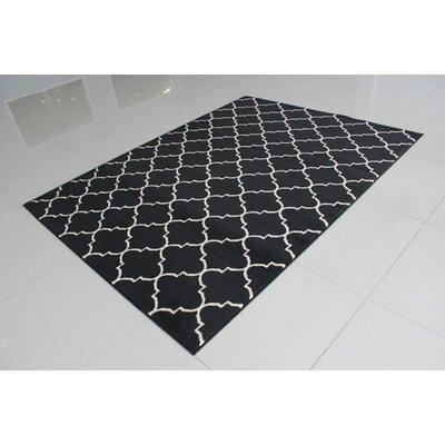 Black/Ivory Area Rug Rug Size: 7'11