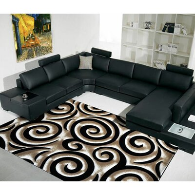 Black Area Rug Rug Size: 27x72 Runner
