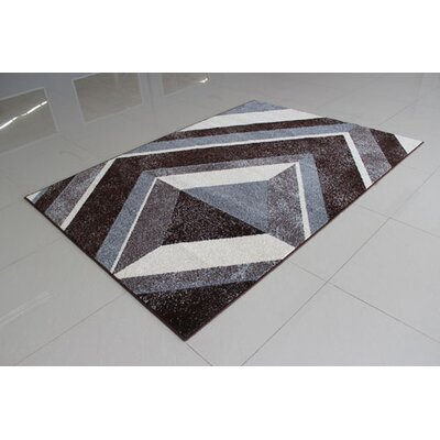 Brown Area Rug Rug Size: 53 x 72