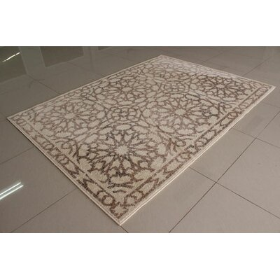 Ivory/Berber Area Rug Rug Size: 53 x 72