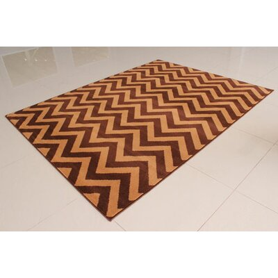 Brown Area Rug Rug Size: 3' x 5'