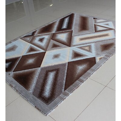 Brown/Blue Area Rug Rug Size: 3 x 5