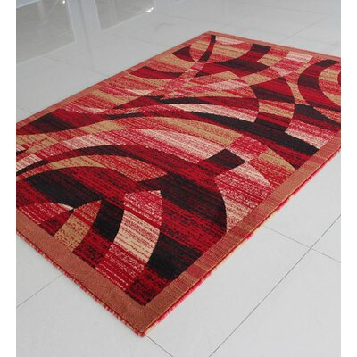 Caramel/Red Area Rug Rug Size: 7'11
