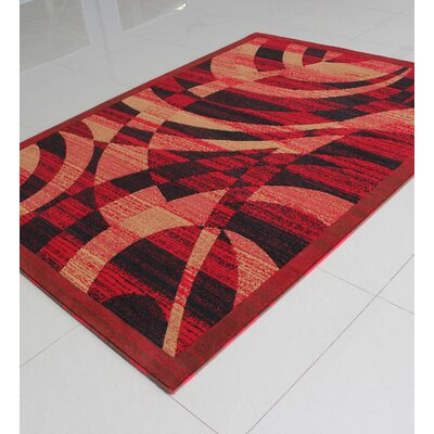 Red Area Rug Rug Size: Rectangle 4 x 6