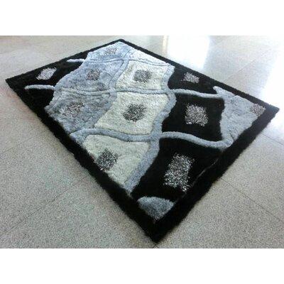 Black/Grey Area Rug Rug Size: 3 x 5