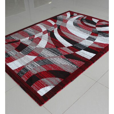 Red/Black Area Rug Rug Size: Runner 2 x 72