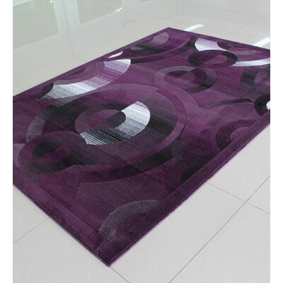 Purple Area Rug Rug Size: Rectangle 3 x 5