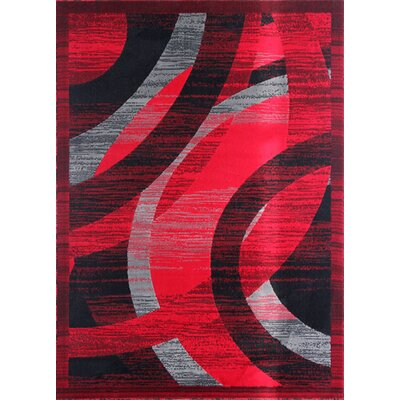 Mccomas Black/Red Area Rug