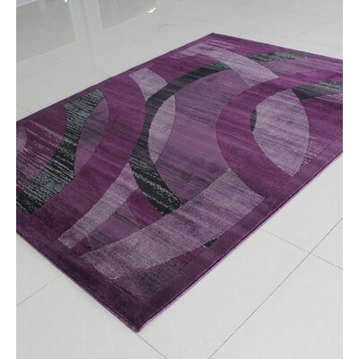 Purple Area Rug Rug Size: Rectangle 711 x 910